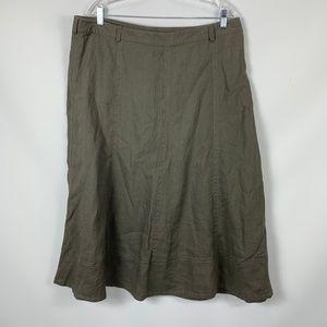 NWOT Liz Claiborne 16 Linen Lined Maxi Skirt
